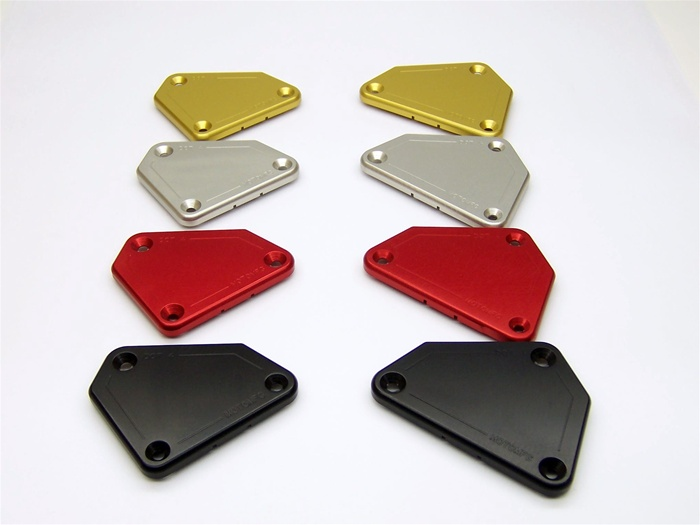 Brake Reservoir Covers : This is a pair of new billet brake and clutch reservoir