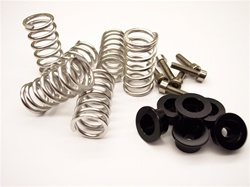 Ducati spring cap set w/stainless springs black