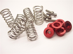 Ducati spring cap set w/stainless springs RED