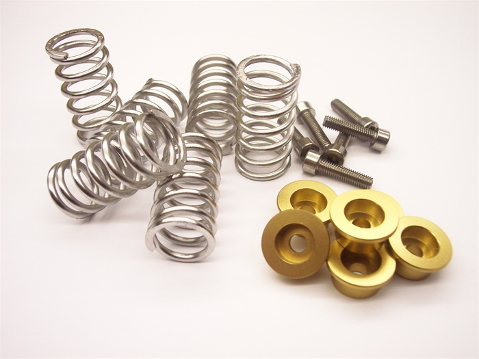 Ducati dry clutch springs chromed with caps gold NEW